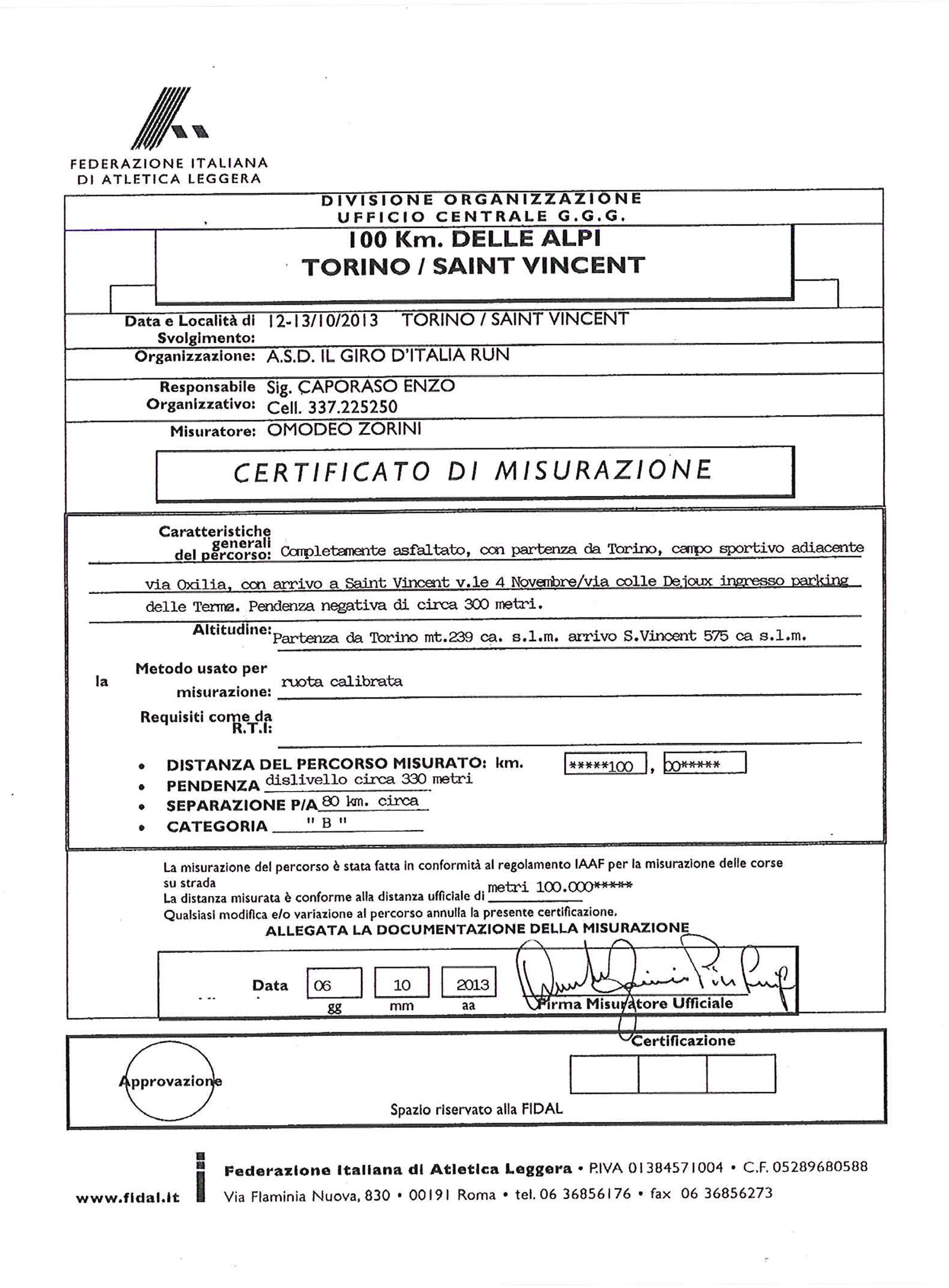 Calendario Fidal Piemonte 2020.Omologazioni Strada